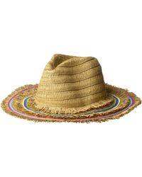 c02e1f40e1c31 Betsey Johnson - Rainbow Panama Hat W  Frayed Edge (black) Caps - Lyst