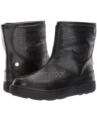 Love Moschino - Embossed Logo Winter Boot - Lyst