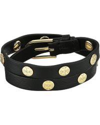 Tory Burch - Double Wrap Logo Stud Bracelet (light Oak/rose Gold) Bracelet - Lyst