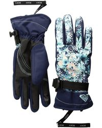Roxy - Jetty Gloves (aruba Blue/kaleidos Flowers) Extreme Cold Weather Gloves - Lyst