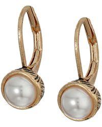 The Sak | Pearl Leverback Earrings | Lyst
