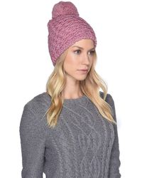 Lyst - Ugg Wool-blend Baseball Hat W  Fur Pompom in Purple 696fa53eec0c