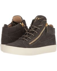 7a33e147ed0 Lyst - Giuseppe Zanotti Black London High Top Sneakers in Black for Men