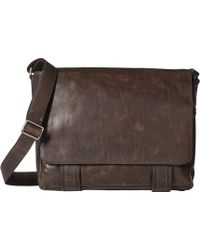 Frye - Logan Messenger (cognac Antique Pull Up) Messenger Bags - Lyst 8bf0e47d0469f