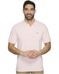 Vineyard Vines - Stretch Pique Solid Polo Contrast Whale (white Cap) Men's Clothing - Lyst