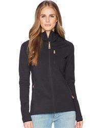 Fjallraven - Keb Fleece Hoodie (dark Grey) Women's Sweatshirt - Lyst