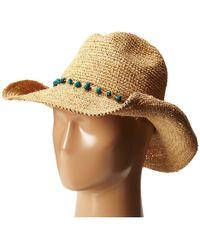 San Diego Hat Company - Rhc1074 Crochet Raffia Cowboy W  Turqoise Bead Trim  (natural a69b25e5d40e