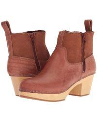 Swedish Hasbeens - Zip It Shearling Boot (cognac) Women's Boots - Lyst