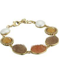 Lucky Brand - Druzy Link Bracelet (gold) Bracelet - Lyst
