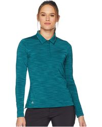 adidas Originals - Ultimate Long Sleeve Polo (mystery Green) Women's Long Sleeve Pullover - Lyst