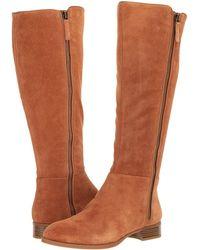 Nine West - Nihari Tall Boot (dark Grey Suede) Women's Boots - Lyst