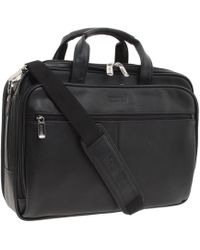 Kenneth Cole Reaction - I Rest My Case - 4 1/2 Double Gusset Top Zip Portfolio Computer Case (black Nappa Lea) Computer Bags - Lyst