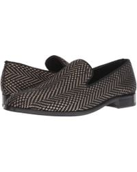Emporio Armani - Indios Fabric Loafer (black) Men's Slip On Shoes - Lyst