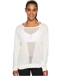 Reebok - Mesh Long Sleeve Tee (chalk) Women's Long Sleeve Pullover - Lyst