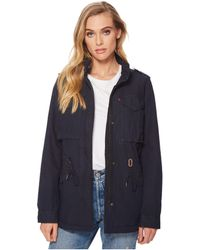 Levi's - Levi's(r) Four-pocket Utility Jacket (navy) Women's Coat - Lyst