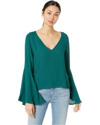 Jack BB Dakota - Talk To The Sleeve Rayon Crepe Bell Sleeve Top (hunter Green) Women's Clothing - Lyst