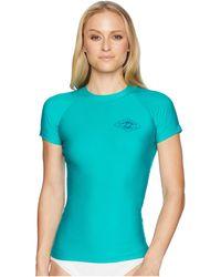 Billabong - Core Performance Fit Short Sleeve (nile Green) Women's Swimwear - Lyst