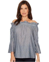 B Collection By Bobeau - Martha Off Shoulder Top (chambray) Women's Clothing - Lyst