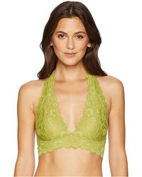 6108f71c77 Free People - Galloon Lace Halter (chartreuse) Women s Bra - Lyst