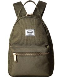 Lyst - Herschel Supply Co. Flight Satin Nova Mini Backpack in Blue 2f101efcab