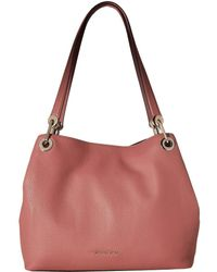 MICHAEL Michael Kors - Raven Large Shoulder Tote (rose) Tote Handbags - Lyst