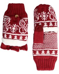 San Diego Hat Company | Kng3476 Snowflake Pop Over Gloves | Lyst