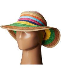 San Diego Hat Company - Pbv007 Paper Braid Adjustable Roll Up Visor With Ribbon Edge - Lyst