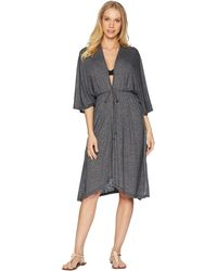 Michael Stars - Brooklyn Jersey Long 3/4 Sleeve Cover-up (black) Women's Clothing - Lyst