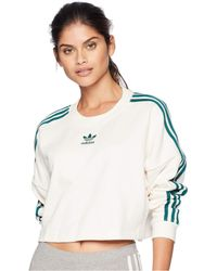 adidas Originals - Adibreak Cropped Sweater (chalk White) Women s Sweater -  Lyst 01d271f5859