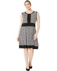 c899fd84dea MICHAEL Michael Kors - Plus Size Spring Sleeveless Border Dress  (black white) Women s