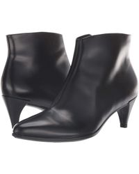 Ecco - Shape 45 Kitten Heel Boot (black Calf Leather) Women's Boots - Lyst