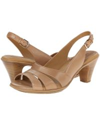 Comfortiva - Neima - Soft Spots (gold Cork) Women's Dress Sandals - Lyst