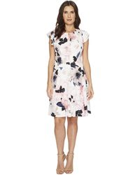 Ivanka Trump | Matte Jersey Flutter Sleeve Dress | Lyst