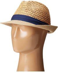 Steve Madden - Two Weave Banded Fedora (fuchsia) Fedora Hats - Lyst