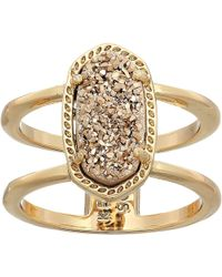 Kendra Scott - Elyse Ring (rose Gold/iridescent Drusy) Ring - Lyst
