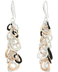 Robert Lee Morris - Chain Linear Earrings (tri-tone) Earring - Lyst
