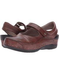 Wolky - Strap Cloggy (terracotta Vegi Leather) Women's Clog Shoes - Lyst