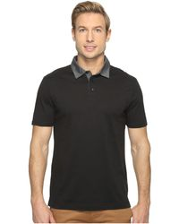 Perry Ellis - Pima Chambray Polo Shirt (black) Men's Clothing - Lyst