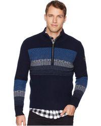 Obermeyer - Textured 1/2 Zip Sweater (nocturnal Blue) Men's Sweater - Lyst