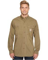 Carhartt   Force Ridgefield Solid Long Sleeve Shirt   Lyst
