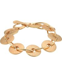 Robert Lee Morris - Gold Disc Link Bracelet - Lyst