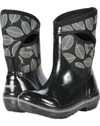 Bogs - Plimsoll Leafy Mid (black Multi) Women's Boots - Lyst