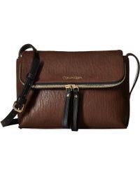 Calvin Klein - Elaine Bubble Lamb Novelty Crossbody (walnut) Cross Body Handbags - Lyst