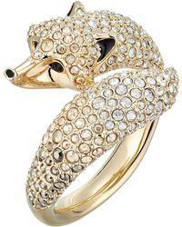 Swarovski - March Fox Motif Ring (light Multi) Ring - Lyst
