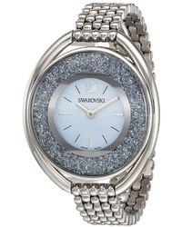 Swarovski - Crystalline Oval Watch (blue/teal) Watches - Lyst
