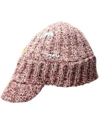 San Diego Hat Company - Knh3508 Marled Knit Cadet With Darning Stitches (red) Caps - Lyst