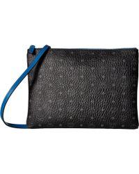 MCM - Color Visetos Medium Crossbody Pouch (black) Cross Body Handbags - Lyst