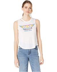 4652a38e6e33e5 Chaser - Aerosmith Tour 78 Vintage Jersey Vented Muscle Tank (white)  Women s Clothing -