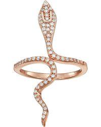 Shashi - Snake Wrap Ring (rose Gold) Ring - Lyst