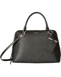 Calvin Klein - Saffiano Leather Dome Satchel (porcini) Satchel Handbags - Lyst
